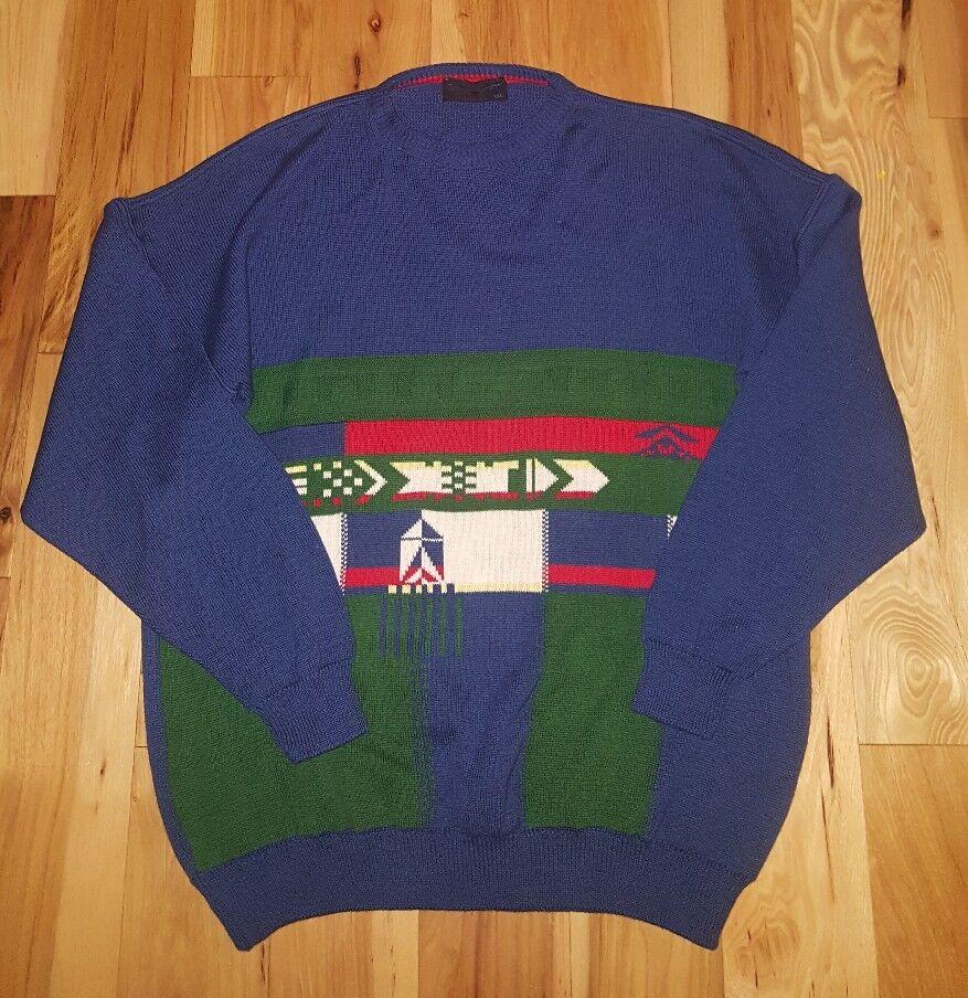 TRICOT MARINE Ireland Navy Blau Cotton Nautical Sailing Sweater Größe 2XL Blau