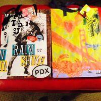 San Fran & Portland Trader Joe's Bags Reusable Shopping Grocery Tote Eco Bag
