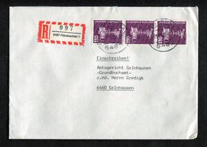 Bund-Auchinleck-3-1134-Lettre-recommandee-a-Plusieurs-Reprises-affranchissement-RFA-industrie-et