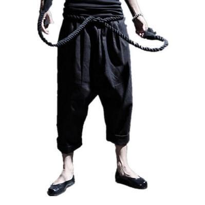 Summer Mens Harem Linen Cotton Japanese Boho Casual Hot Pants Sport Outdoor New