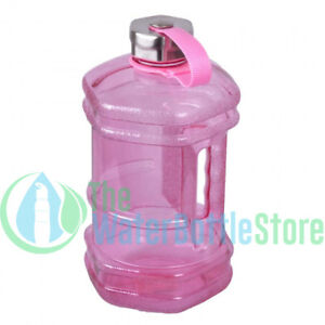 Details about Pink Half Gallon 2 3 Liter BpA Free Hexagon Bottle Stainless  Steel Cap 64oz New
