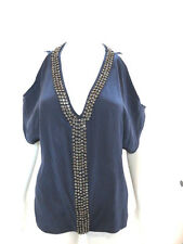 Pookie And Sebastian Blue Silk Tunic Size M