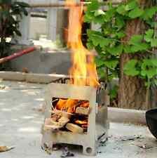 Multi Carburante compatto pieghevole Stufa a legna/bruciatore ad alcool per Bushcraft & SOPRAVVIVENZA