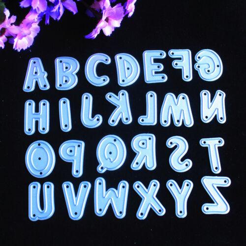 Die Alphabet Stanzform Metall Stanzen stirbt Scrapbooking Prägung Ordner CN