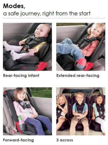 Booster Child Safety Car Seat Red NEW Diono Radian 3 RX All-in-One Convertible