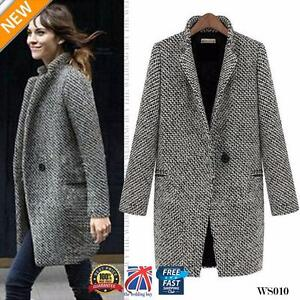 Womens-Lapel-Wool-Cashmere-Coat-Trench-Jacket-Long-Parka-Overcoat-Outwear-WS010