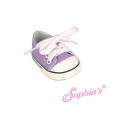 "LIGHT PURPLE Low Top Sneaker Canvas fit American Girl 18"" doll shoes sneakers lo"