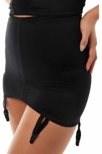 Ladies Roll on Control Girdle with Suspenders Black White Underwear