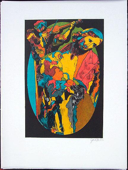 """JACOB LANDAU Signed 20 Original Color Lithographs - """"Kingdom of Dreams"""", 1969"""