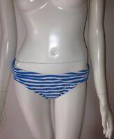 Lands End Beach Living Ruched nautical Stripe Swimsuit bikini Bottom women's