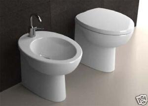 Sanitari bagno erika pro a pavimento vaso bidet e sedile ebay