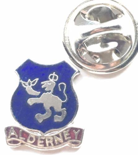 Alderney Channel Islands Small Enamel Lapel Pin Badge T130