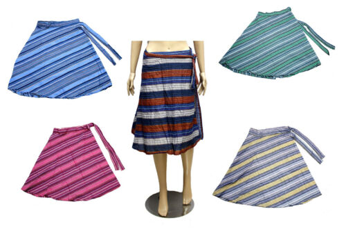 5pcs-100pcs Cotton Hippie Gypsy Women/'s Short Wrap Around Skirts Wholesale Lot