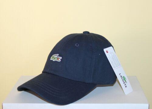 Lacoste Hommes Cap Nouveau Chapeaux superbe avec CROCODILE ET visiere de gabardine