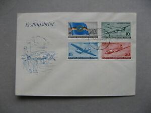 GERMANY-DDR-cover-FDC-1956-aeroplane-Lufthansa-aviation