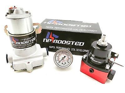 140GPH Universal Electric Fuel Pump for Carbureted Engine w// Reg Pressure Gauge