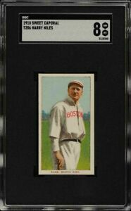 Very-Rare-1909-11-T206-Harry-Niles-Sweet-Caporal-350-Boston-SGC-8-NM-MT-Pop-1