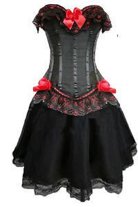Corsage-Dress-Mini-Skirt-Petticoat-Bustier-Sexy-Laundry-Bags