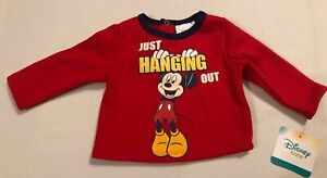 NWT-Disney-Baby-Store-Mickey-Mouse-Sweatshirt-0-3-Months-Baby-Top