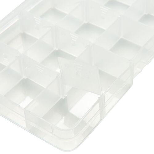 Clear Plastic Fishing Lure Tackle Pill Box Organizer Storage Case Detachable