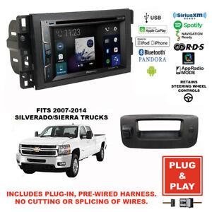 Details about Plug-In Pioneer CarPlay USB/CD Car Stereo Radio+Silverado/Sierra on