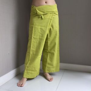 548ab21ad2 Details about Thai Fisherman Pants 100%Cotton Massage Yoga Pilates loose  wear unisex free size