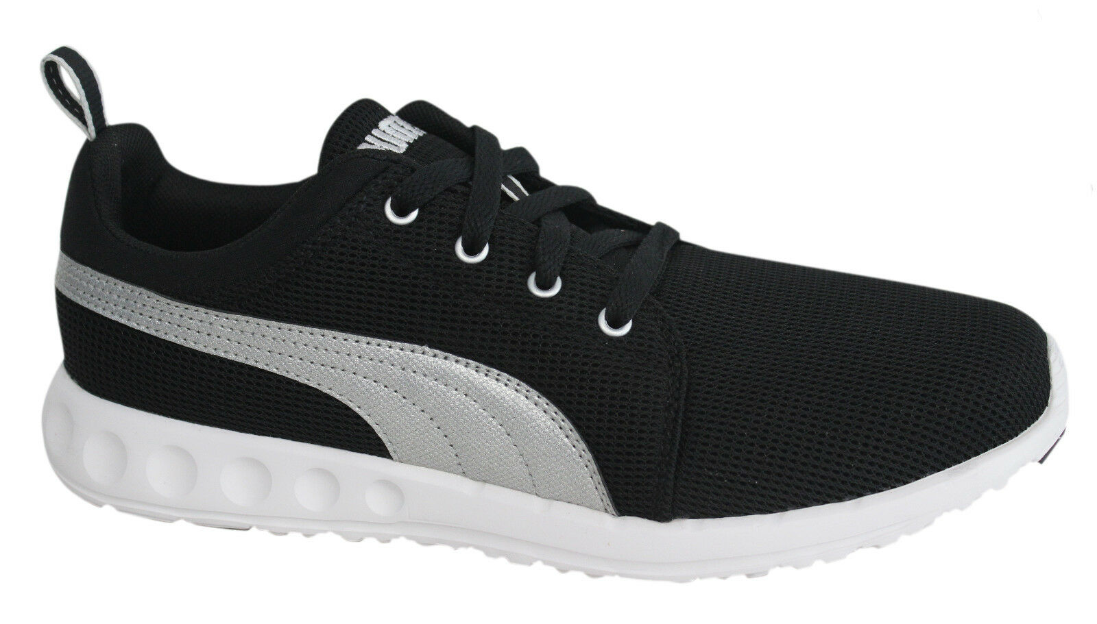 images détaillées 3625f cafa1 Puma Carson Runner Mesh Unisex Trainers Running Shoes Black 357482 03 B36A