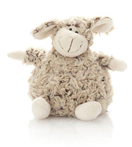 Stofftier Kuscheltier Plüsch Schaf sitzend  20 cm braun natur  kuschelweich Lamm