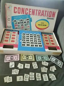 Vintage Concentration Game 12th Edition