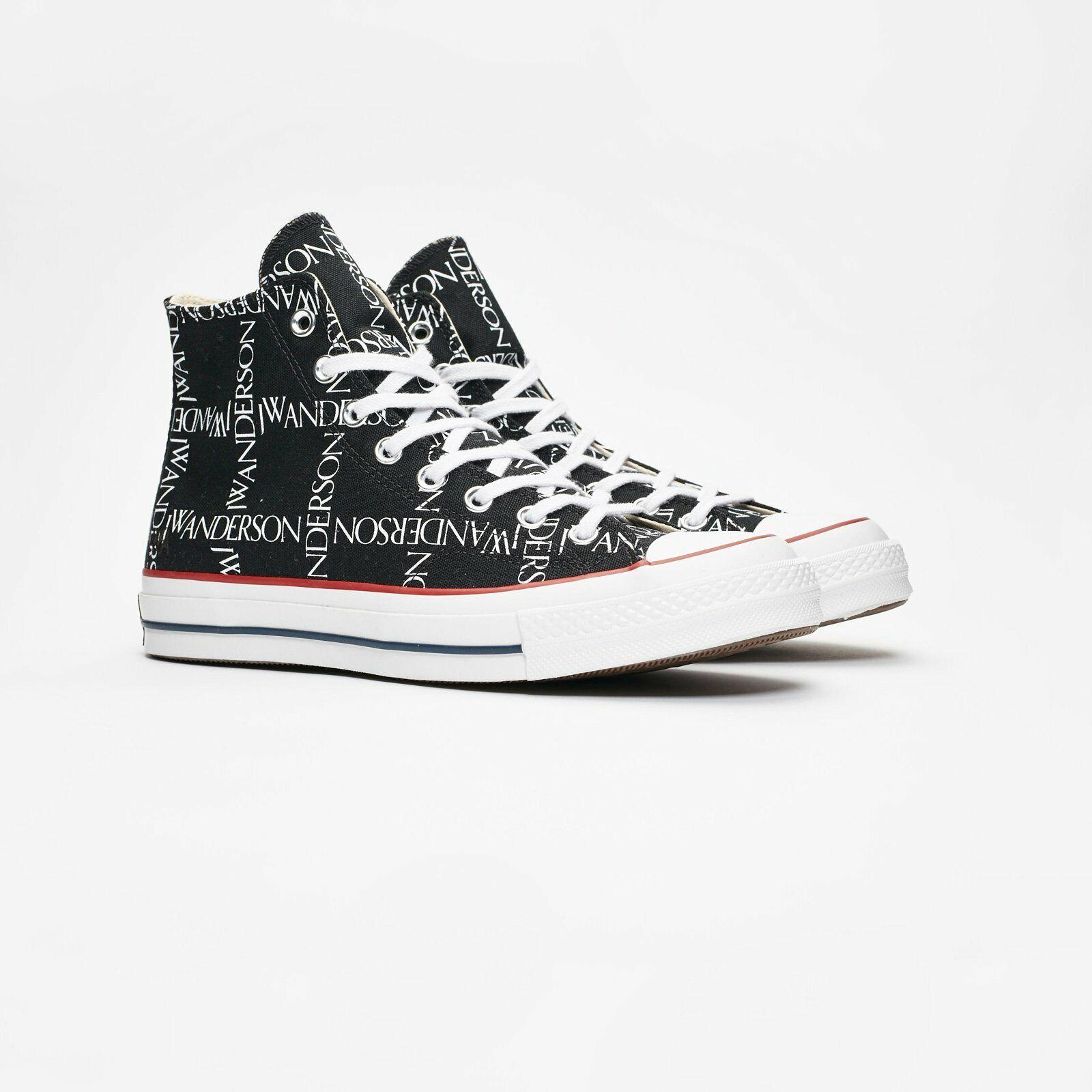 CONVERSE x JW Anderson Black Chuck 70 Hi Sneakers #160807C US M9.5/W11.5 NWOB