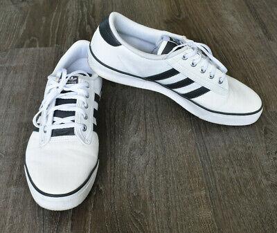 adidas Originals Kiel Skate Shoes Mens 12 Black White Athletic Skateboard Lace   eBay