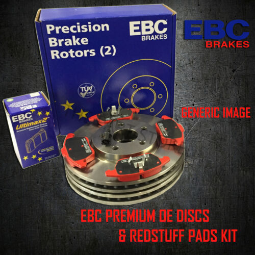 NEW EBC 320mm FRONT BRAKE DISCS AND REDSTUFF PADS KIT OE QUALITY PD02KF258