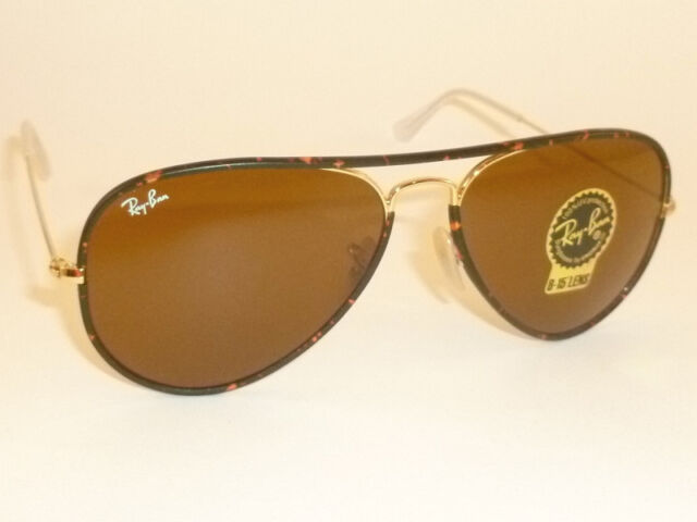 0aa5d93e3b2 ... closeout new ray ban sunglasses full color gold tortoise rb 3025jm 001  b 15 brown 58mm ...