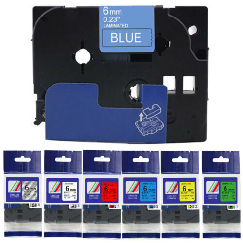 6mm FOR P-TOUCH H101C PT-H101C COMPATIBLE LABEL TAPE FOR BROTHER