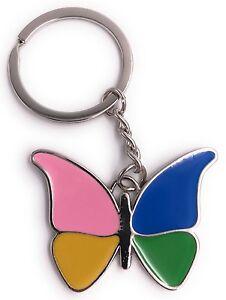 Mariposa-Colorido-Llavero-Colgante-de-Metal