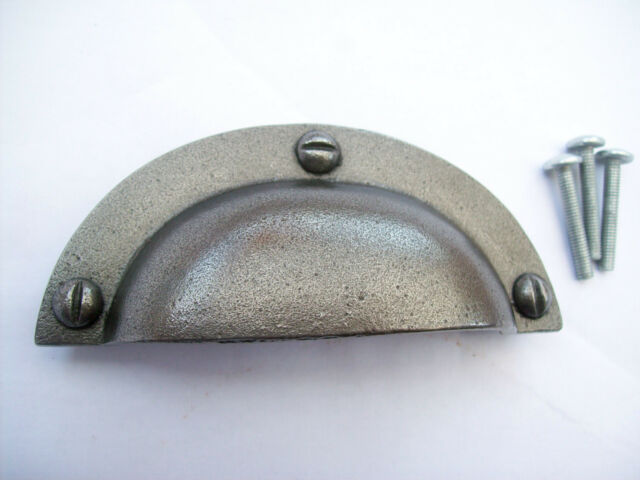 REAR FIX - Iron Antique Cup Pull Handle Drawer Cupboard Cabinet kitchen Handle