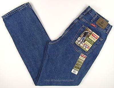Wrangler Jeans New Mens Size 36 x 34 DARK STONEWASH Regular Fit Zipper Fly #1318