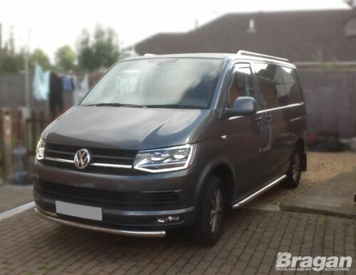 To Fit 10-15 Volkswagen Transporter T5 LWB STAINLESS STEEL Top Metal Roof Rails