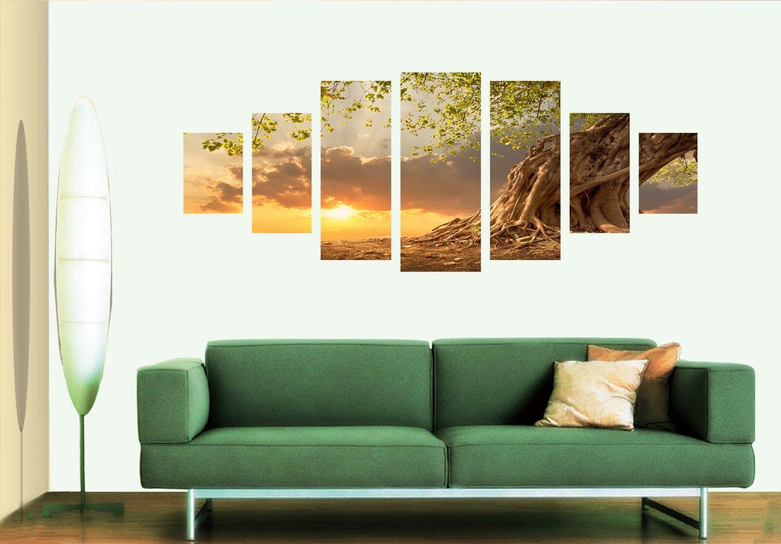 3D árbol 567 impresión sin enmarcar anochecer Papel de Parojo Calcomanía Decoración De Parojo Parojo Interior AJ