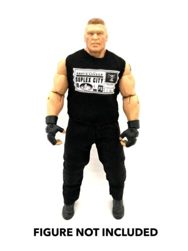 WWE Brock Lesnar /'suplex ciudad Camisa Personalizada para Mattel Figuras.