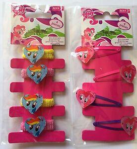 2 X My Little Pony Hair Bobbles//Bands Accessories Clips//Slaids #plush,bag Filler