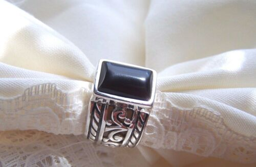 Silpada Onyx Solid Sterling Silver 925 Size 7 Fabulous Ring & Condition!