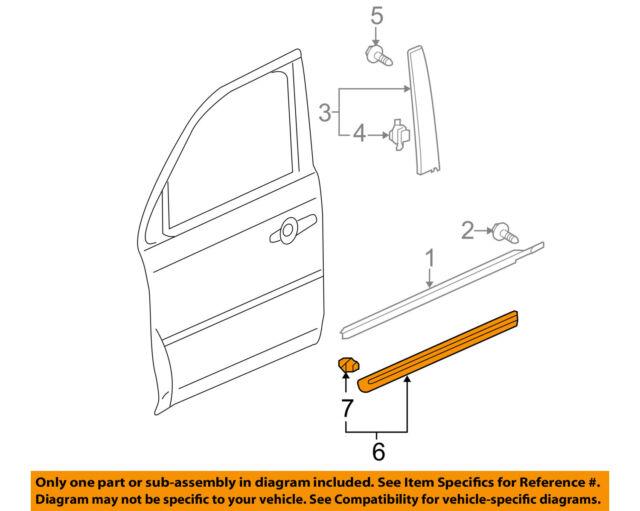 Right Genuine Honda 75302-SZA-A12ZB Door Protector Front