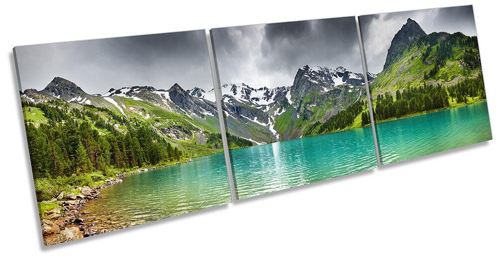 Lienzo Enmarcado Paisaje Lago Arte De Montaña Impresión Triple Pared Arte Lago 8e1a40
