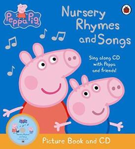 Peppa-Pig-Nursery-Rhymes-and-Songs-Picture-Book-and-CD-by-Ladybird-NEW-Book-F
