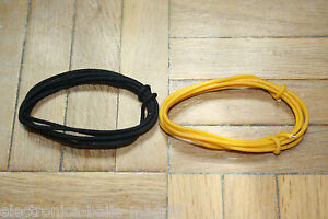 2 mt black yellow guitar electric 22 awg vintage cloth covered wire ebay. Black Bedroom Furniture Sets. Home Design Ideas