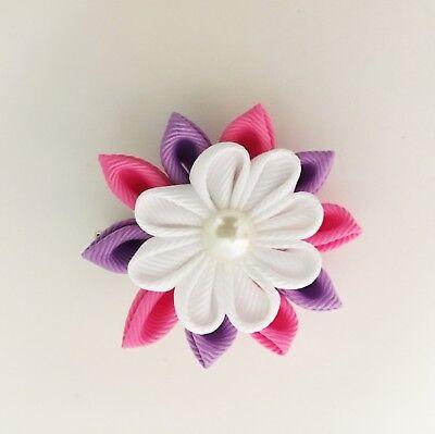 Purple flower alligator clip