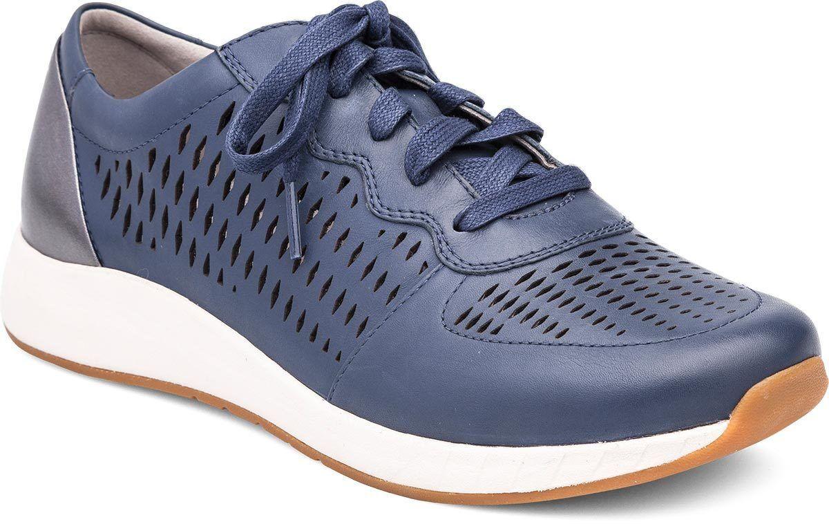 Dansko Charlie Con Cordones Cuero Perforado Zapatillas Azules EE. UU. 5.5 - 6 Nuevo