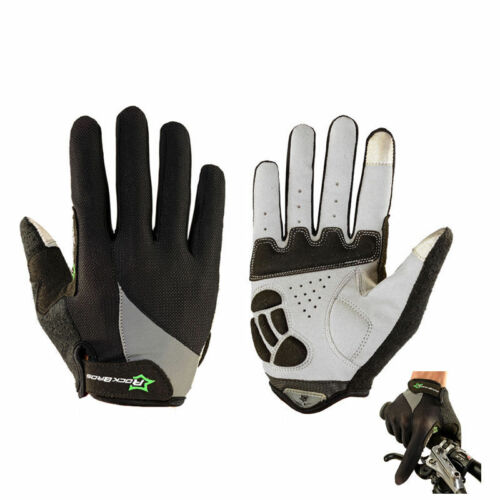 RockBros Cycling Full Finger Gloves Touch Screen Sporting Gloves Black