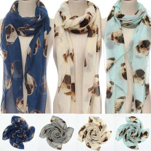 Pugs Dog Print Wrap Pashmina Shawl Spring Scarf 1 Pcs Winter Women Scarves